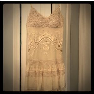 Sue Wong vintage boho crochet lace/eyelet dress